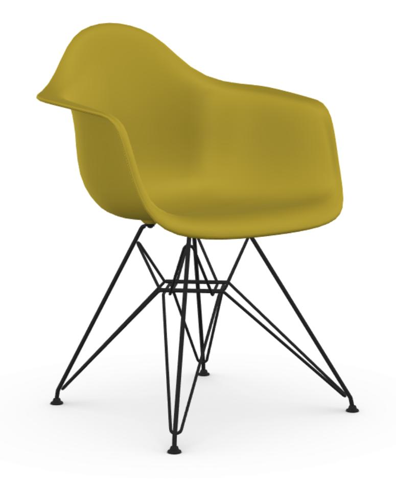 Eames dar stoel met zwart gepoedercoat onderstel for Eames stoel zwart