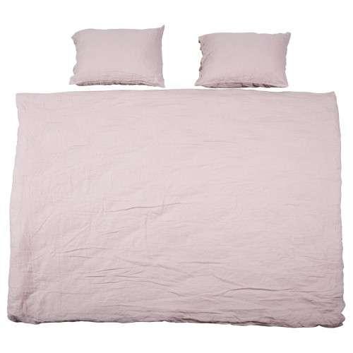dekbedovertrek linnen roze - beddengoed - loods 5
