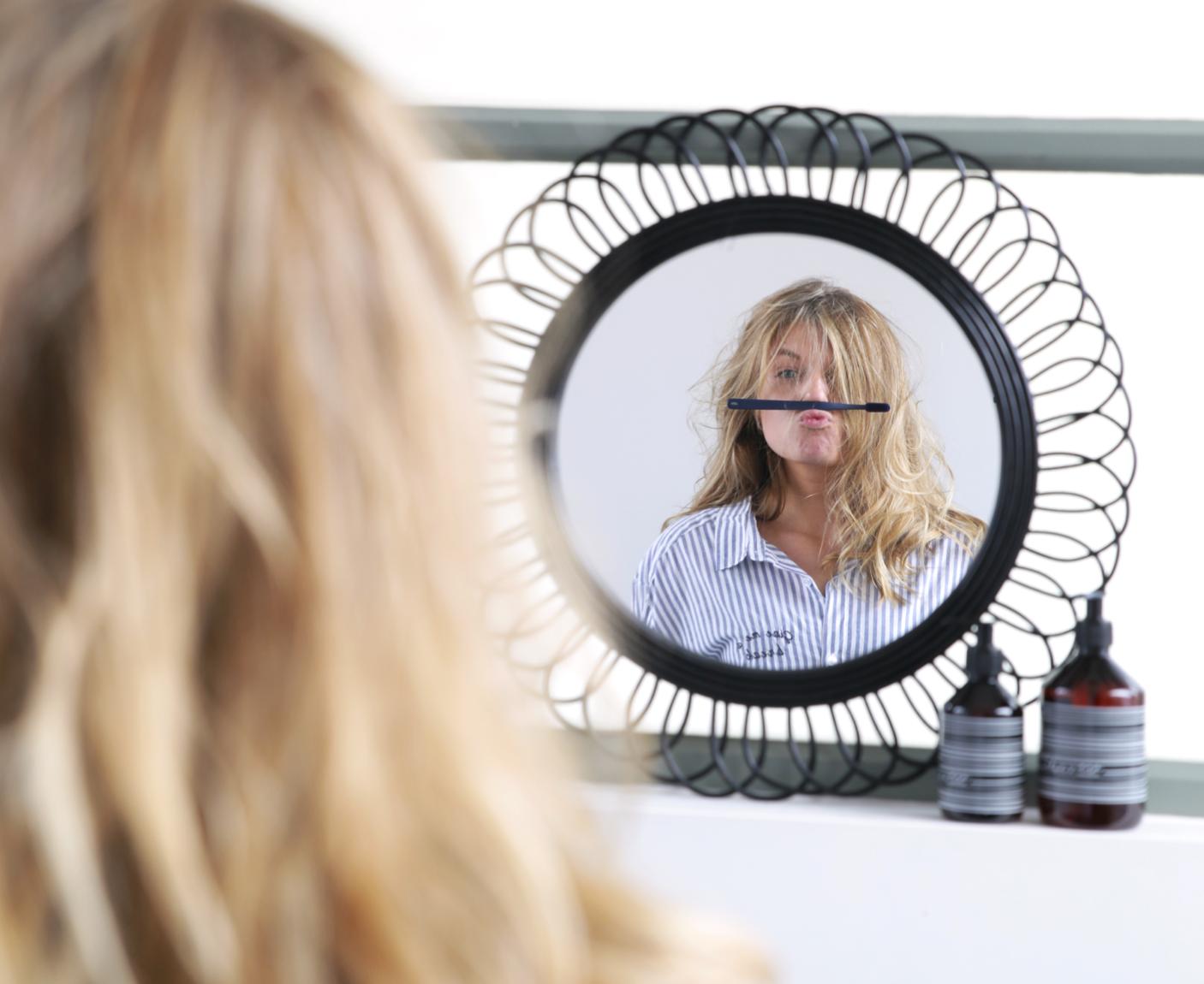 Ronde Houten Spiegel : Spiegels loods