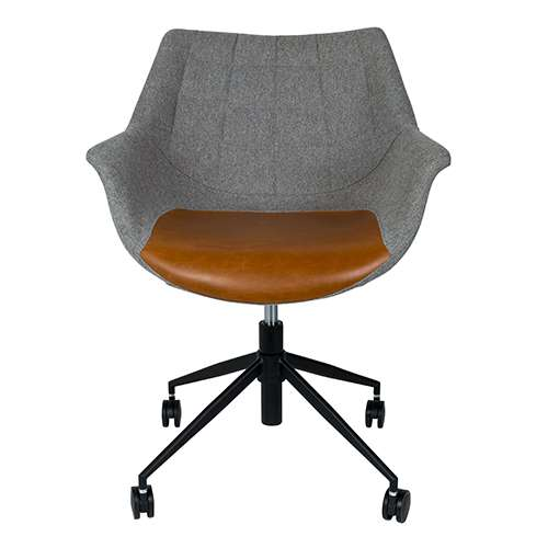 Loods 5 Bureaustoel.Zuiver Doulton Vintage Brown Bureaustoel Stoelen Loods 5