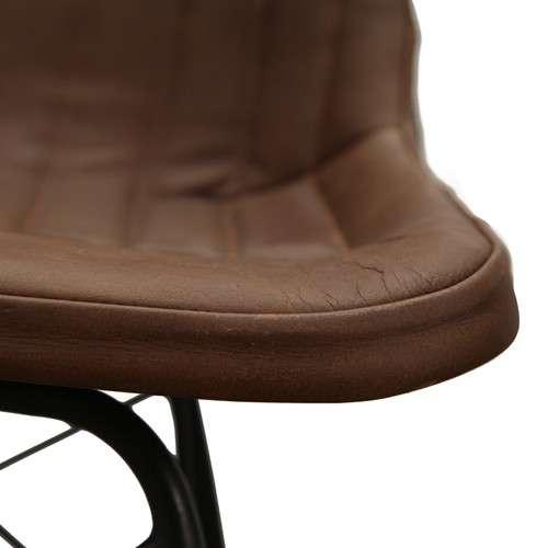 Leren stoel brodie artikelen loods 5 for Bruine leren stoel