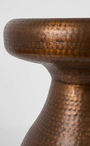 Zuiver Antique Copper Bijzettafel.Zuiver Antique Copper Bijzettafel