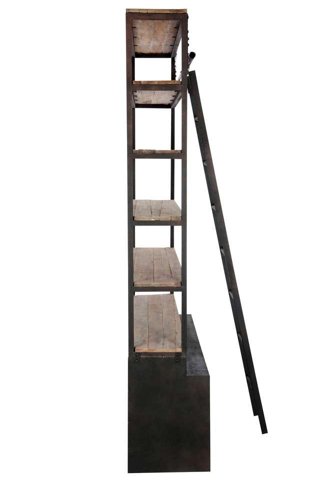 Kast Hout Metaal Met Ladder 62430
