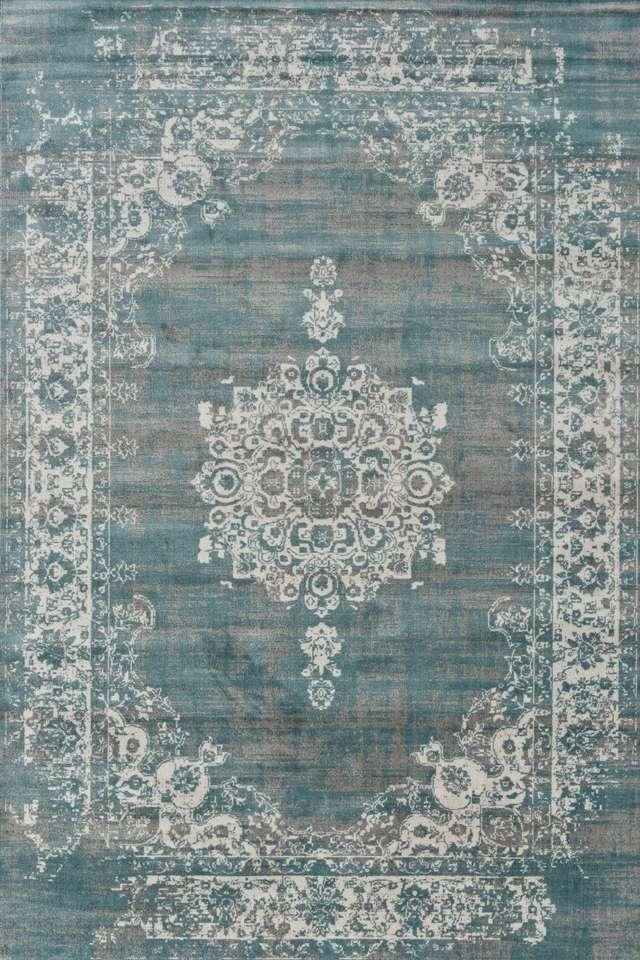 Vloerkleed Cool Vintage Grijs Blauw Vloerkleden Loods 5