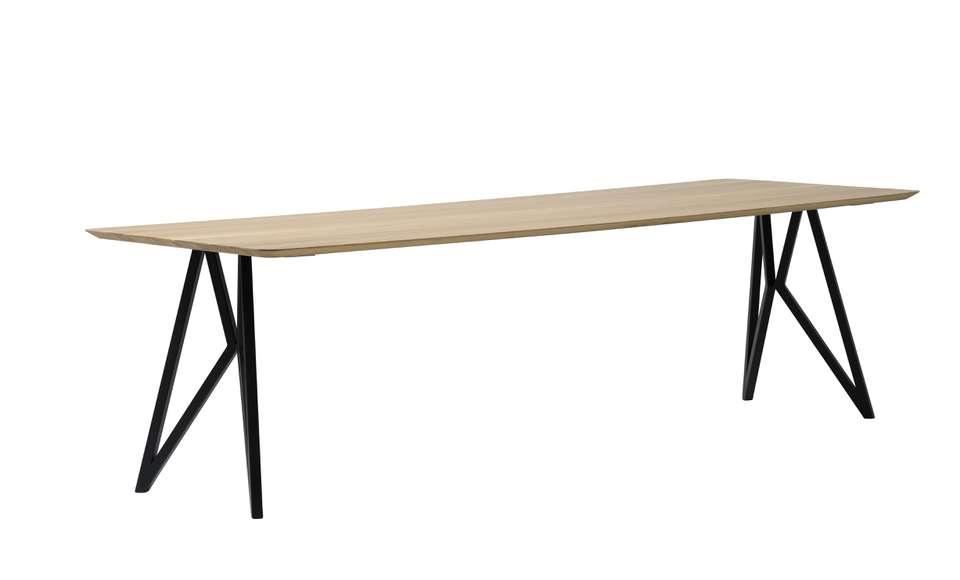 Eettafel Loods 5.Vlinder Tafel Zwart Onderstel