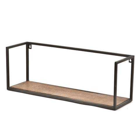 Wandplank Zwart Metaal Hout.Wandplanken Rekken Loods 5
