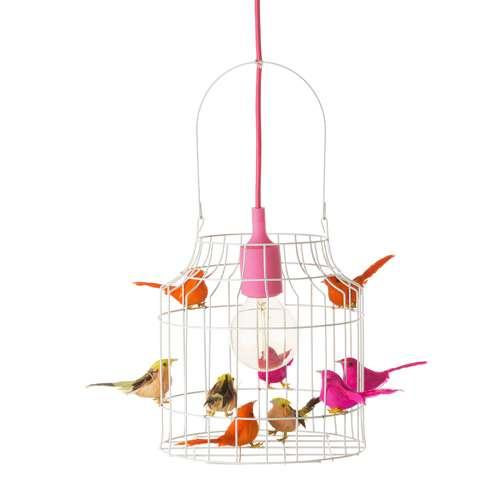 Loods 5 Lampen.Hanglamp Met Vogeltjes Neon