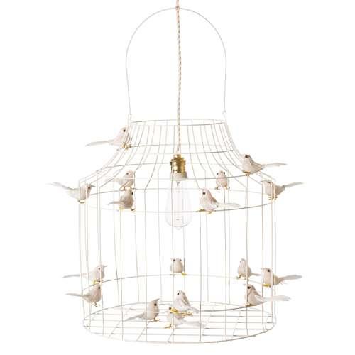 Loods 5 Lampen.Hanglamp Met Vogeltjes Wit