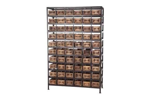 Kast Met Vakken : Wandkasten loods