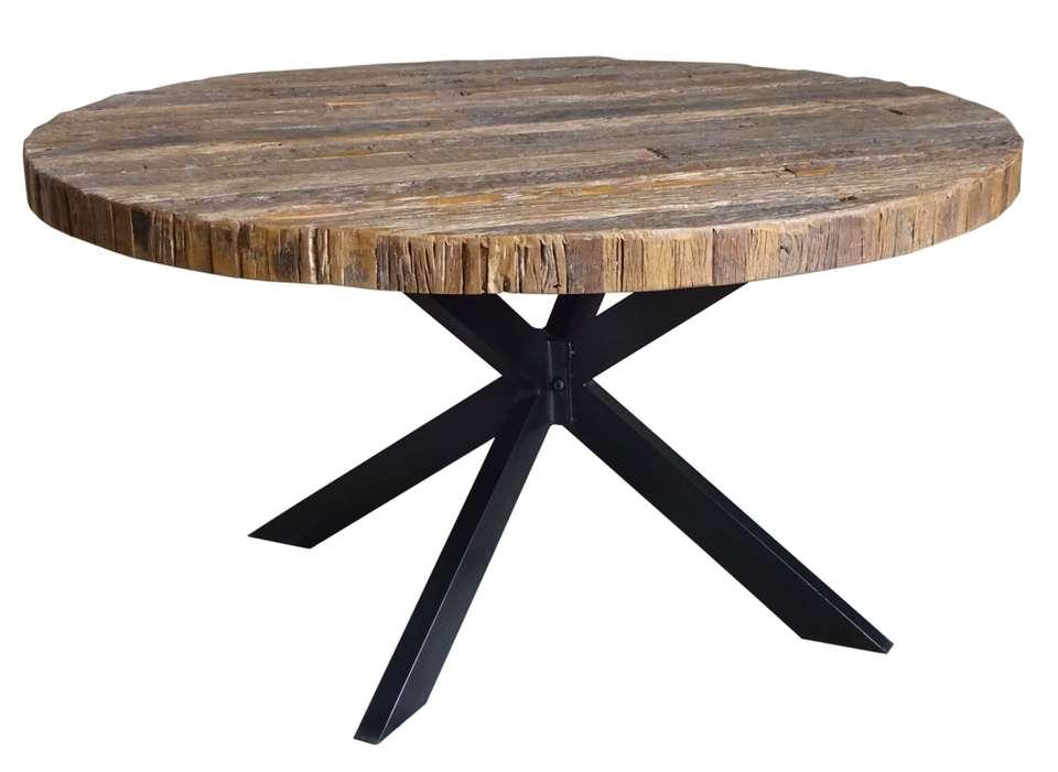 Ronde Tafel Hout : Eettafel oud hout artikelen loods