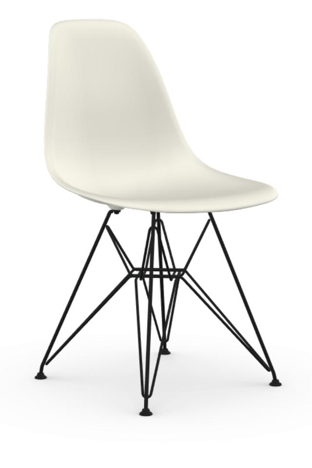 Eames dsr stoel met zwart gepoedercoat onderstel for Eames stoel zwart