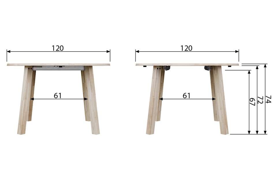 Ronde Tafel Diameter 200 Cm.Uitschuifbare Eettafel Lange Jan Rond
