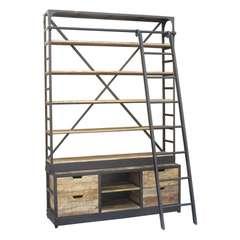 Beste Boekenkast met ladder industrieel - Wandkasten - Loods 5 OD-19