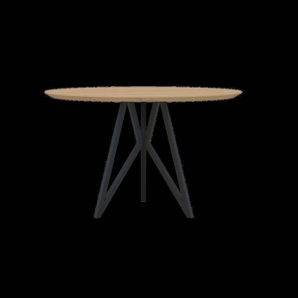 Goede Vlinder tafel rond, verjongd, zwart onderstel - Eettafels - Loods 5 RX-29