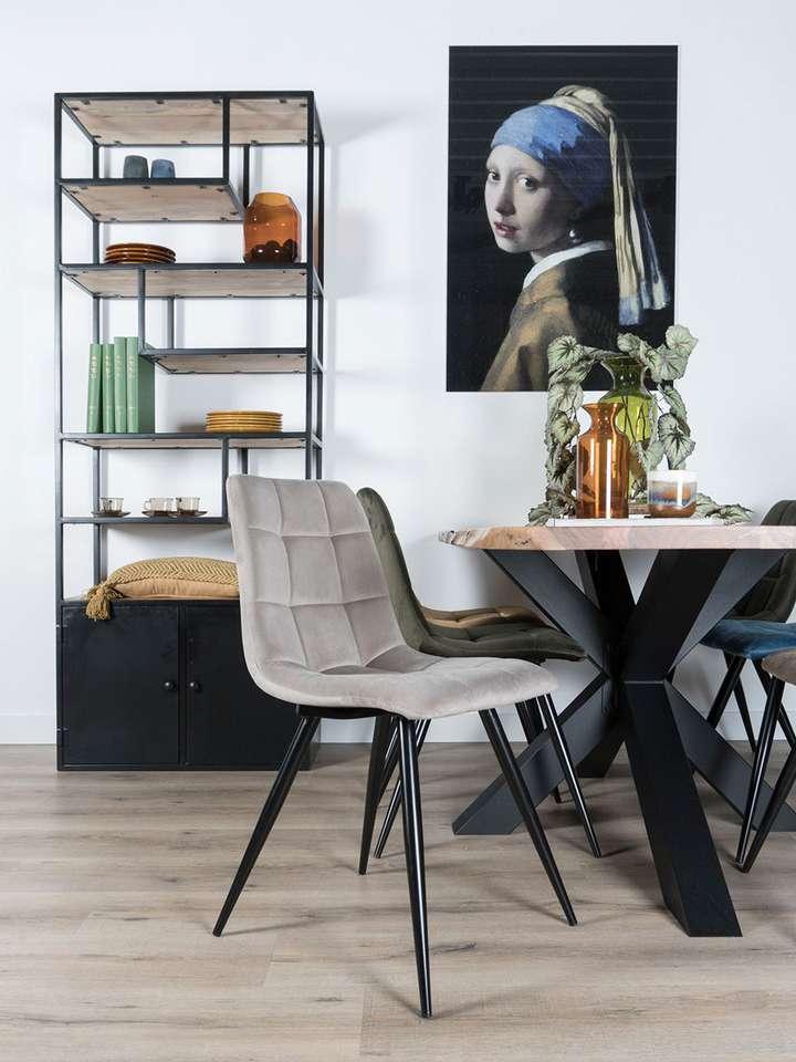 Eetkamerstoel Galgary Velvet Taupe | STOELEN | Small Sales